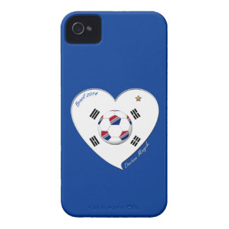 SOCCER national team and flag of SOUTH KOREA 2014 iPhone 4 Case
