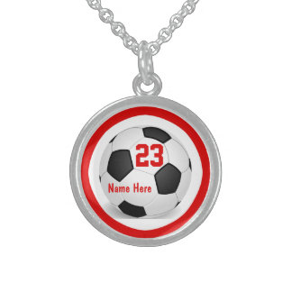 Soccer Necklaces with Number