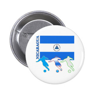 Soccer Nicaragua 6 Cm Round Badge