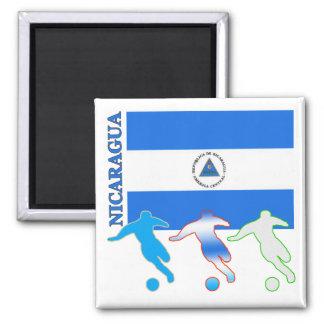 Soccer Nicaragua Square Magnet