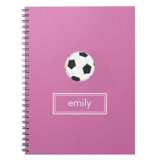 Soccer Notebook (Pink)