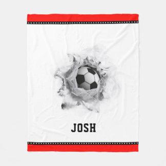 Soccer Novelty Fleece Blanket