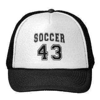 Soccer Number 43 Designs Trucker Hat