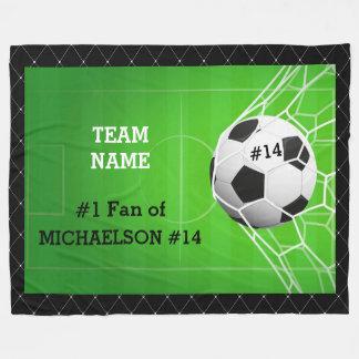 Soccer Number One Fan of Player Fleece Blanket