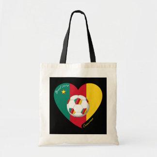 """Soccer of Cameroun Soccer """"CAMEROUN"""" FOOTBALL Tea Tote Bag"""