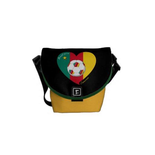 "Soccer of Cameroun, Soccer ""CAMEROUN"" FOOTBALL Tea Messenger Bag"