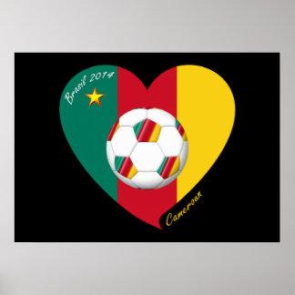 "Soccer of Cameroun, Soccer ""CAMEROUN"" FOOTBALL Tea Print"