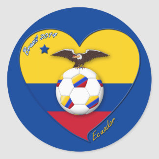 Soccer of ECUADOR. Ecuadorian National Team Soccer Classic Round Sticker