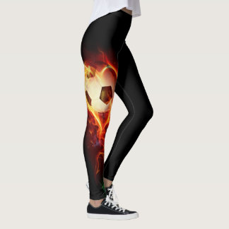 Soccer on Fire Leggings