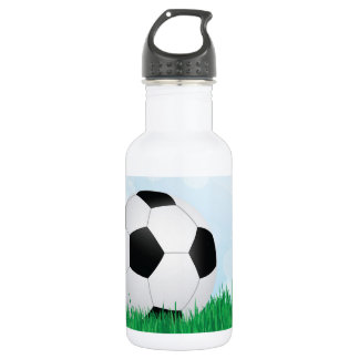soccer on grass 532 ml water bottle