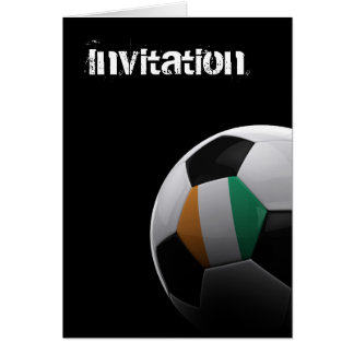 Soccer on the Ivory Coast Greeting Card