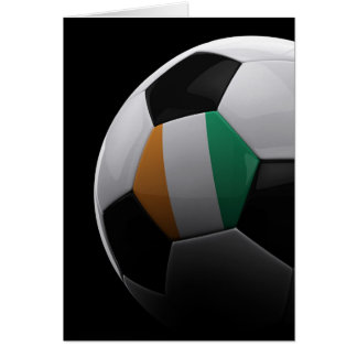 Soccer on the Ivory Coast Greeting Cards