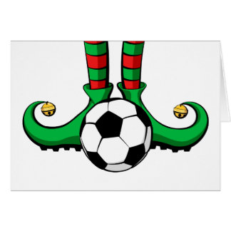 Soccer or Football Christmas Elf Feet Card