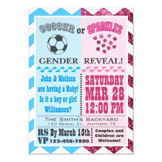Soccer or Sparkles Gender Reveal Invitation