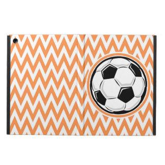 Soccer Orange and White Chevron Case For iPad Air