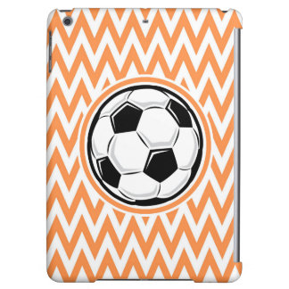 Soccer Orange and White Chevron Cover For iPad Air