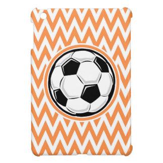 Soccer Orange and White Chevron Case For The iPad Mini