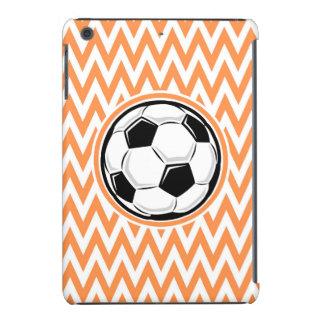 Soccer Orange and White Chevron iPad Mini Cases