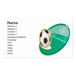 Soccer Pack Of Standard Business Cards