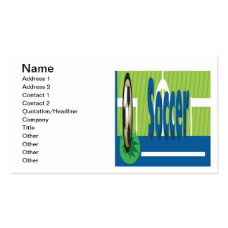 Soccer Pack Of Standard Business Cards