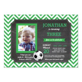 Soccer Party Football Footy Birthday Photo Invite