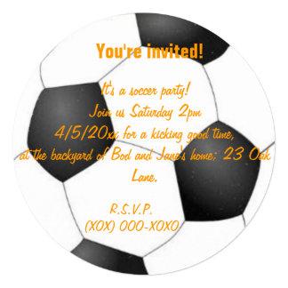 Soccer party 13 cm x 13 cm square invitation card