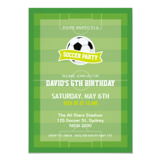 Soccer Party Invitation
