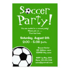 Soccer party invitations for Birthdays or BBQ