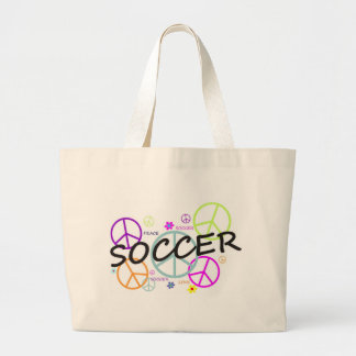 Soccer Peace Large Tote Bag