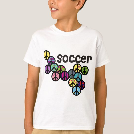 Soccer Peace Signs with Fill T-Shirt