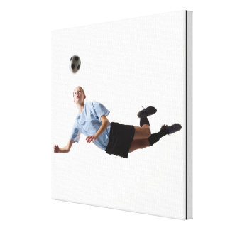 Soccer player 4 canvas print