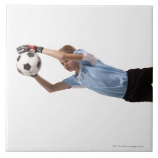 Soccer player 4 large square tile