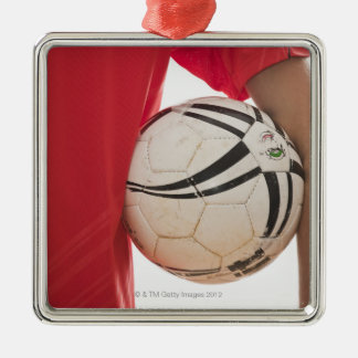 Soccer player 5 Silver-Colored square decoration