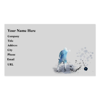 SOCCER PLAYER 6 - Business cards