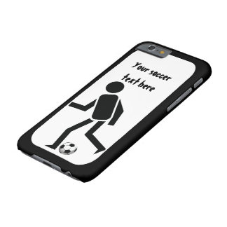 Soccer player and ball black and white barely there iPhone 6 case