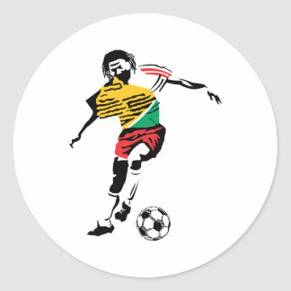 Soccer Player Art2 Round Stickers