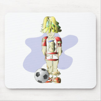 Soccer Player Art Mouse Pad