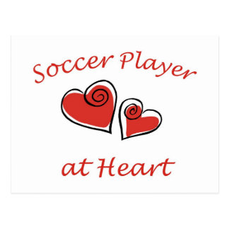 Soccer Player at Heart Postcard
