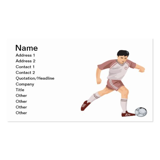 Soccer Player Business Card Template
