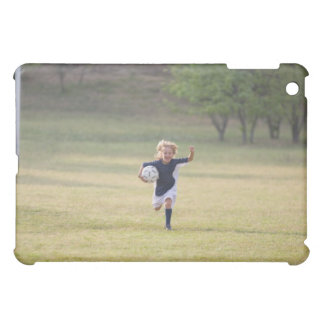 Soccer player cheering and yelling iPad mini case
