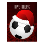 soccer player Christmas Cards Postcards