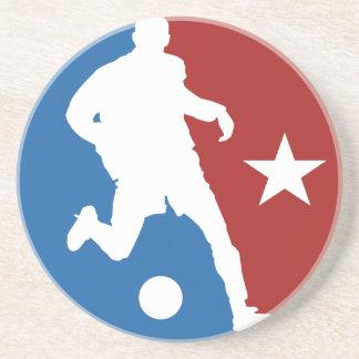 Soccer Player custom coaster