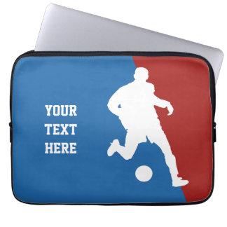 Soccer Player custom laptop sleeve