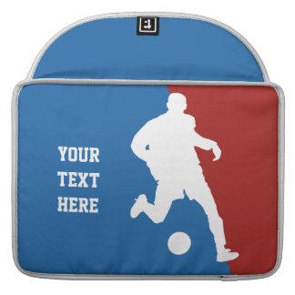 Soccer Player custom MacBook sleeves