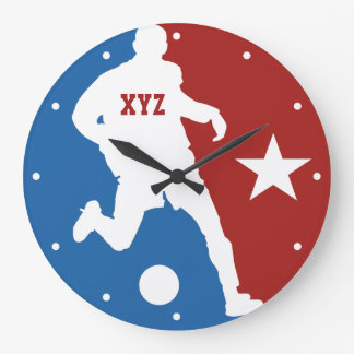 Soccer Player custom wall clock