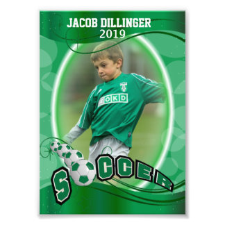 Soccer Player - Decorative Photo Print Template