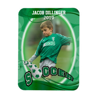 Soccer Player - Decorative Photo Print Template Magnet
