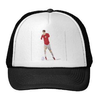 Soccer player design mesh hats