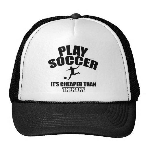 Soccer player designs trucker hats