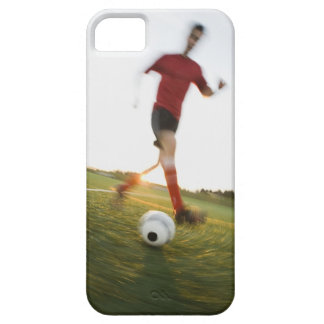 Soccer player dribbling ball iPhone 5 case